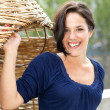 Young woman smiling in a parc — Stock Photo
