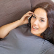 Beautiful woman on the phone — Stock Photo #13567830