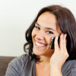 Smile and phone — Stock Photo