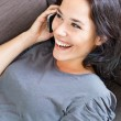 Cheerful woman on the phone — Stock Photo