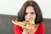 Pretty gluttony — Stock Photo