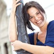 Stock Photo: Young woman laughing