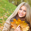 Foto Stock: Happiness in autumn