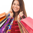 Stock Photo: Smiling beauty shopping