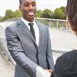 Business collaborators handshaking — Stock Photo