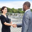 Stok fotoğraf: Business people handshaking