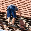 Worker on the roof — Stock Photo #6484732