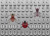 Software bugs — Stock Vector
