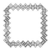 Domino frame — Stock Vector