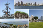 San Diego Collage — Stock fotografie