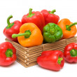 Ripe peppers isolated on white background - Stockfoto