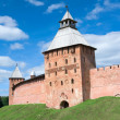 Fyodorovskaya tower - Novgorod Kremlin — Stock Photo