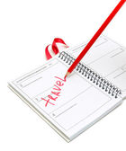 Diary and pen on a white background — Stock Photo