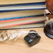 School supplies close-up. horizontal photo. — Stock Photo #18595487