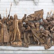 Stock Photo: Fragment of Cathedral of Christ Savior. Bronze multi-f