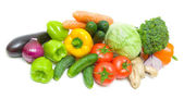 Vegetables on a white background - top view — Stock Photo