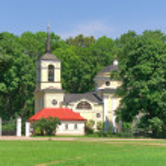Church. Village Spassky-lutovinovo. Memorial estate of great Ru — Stock Photo #27821577