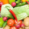 Still life of fresh vegetables. horizontal photo. — Stock Photo #28282071