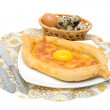 Stock Photo: Khachapuri in Adjarclose-up