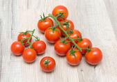 Ripe cherry tomatoes close-up — Stock Photo