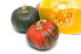 Pumpkin on a white background close-up. horizontal photo. — Foto Stock
