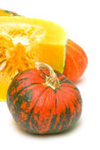 Pumpkin on a white background close-up. in the photo. — Foto Stock