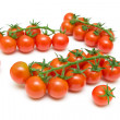 Ripe tomatoes isolated on a white background close-up — Stock Photo