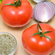 Ripe tomatoes closeup — Stock Photo