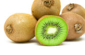 Ripe kiwi closeup on white background — Stock Photo