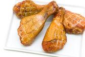 ロースト チキンの足のクローズ アップ — ストック写真