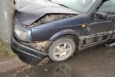 Wrecked car close-up. — Zdjęcie stockowe
