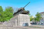 T34 tank - a monument to the heroes of the Great Patriotic War. — Stock Photo