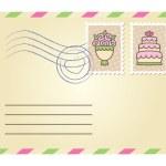 Wedding envelope — Stock Vector