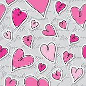 Patroon van harten — Stockvector