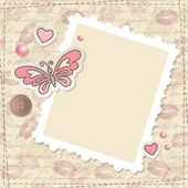 Ensemble de scrapbooking vintage — Vecteur