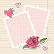 Frames and rose — Stock Vector