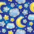 Night pattern — Vector de stock #12599644