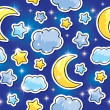 Vector de stock : Night pattern