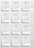 календарь 2013 год — Cтоковый вектор