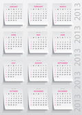 Calendario 2013 año — Vector de stock