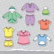 Stock Vector: Children's clothes