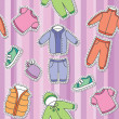 Children's clothes — Stock Vector #17612957