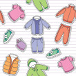 Children's clothes — Imagen vectorial