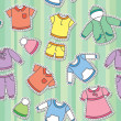Children's clothes — Stock Vector