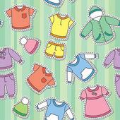 Children's clothes — Stock Vector