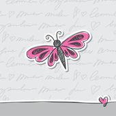 Cartes dessinées à la main — Vecteur