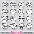 Stock vektor: Set of smiles