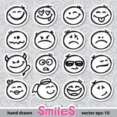 Set of smiles — Vector de stock