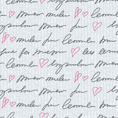 Pattern with hand writing elements — Stock Photo
