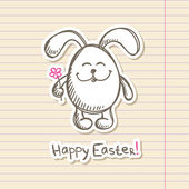 Easter bunny sticker — Stock Vector